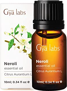 Gya Labs Neroli Essential Oil - Mood Calmer for Peaceful Sleep & Smooth, Hydrated Skin (10ml) - 100% Pure Natural Therapeu...