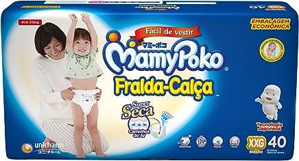Fralda-Calça MamyPoko, Branco, tamanho XXG, pacote contendo 40 unidades