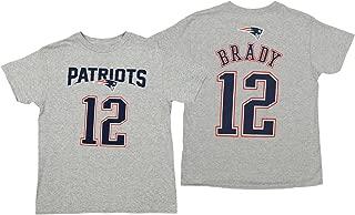 OuterStuff NFL Youth Patriots Brady SS TEE MAINLINER Flat -H.GSize M