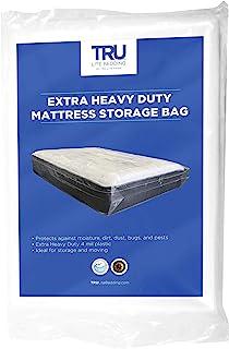 TRU Lite Mattress Storage Bag - Mattress Bag for Moving - Heavy Duty Extra Thick 4 Mil Plastic - Fits Standard, Extra Lon...