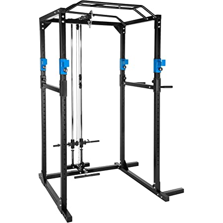 TecTake Fitness Power Station | 2 solid safety bars | Double pull-up bar | Add-on dip bars - different colours and models