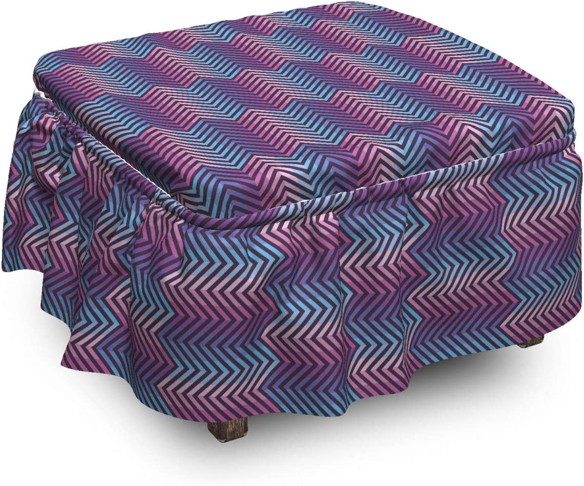 Ambesonne Abstract Ottoman Cover Modern Cheap sale Motifs Pi Art Zigzag Bargain sale 2