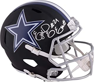 Ezekiel Elliott Dallas Cowboys Autographed Riddell Black Matte Alternate Speed Replica Helmet - Fanatics Authentic Certified