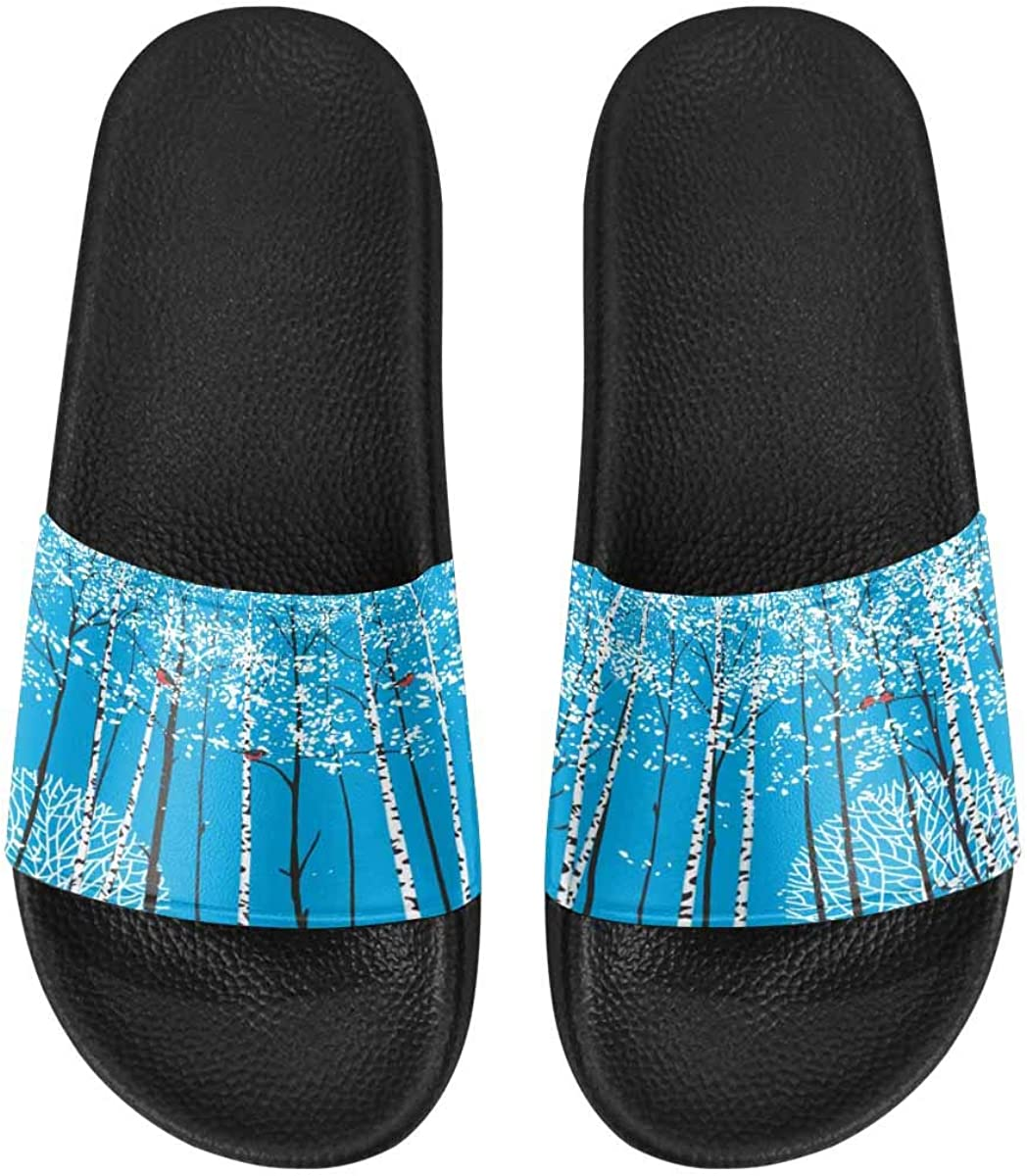 InterestPrint Women's Casual and Lightweight Slipper Sandals for Home Big Red Heart Shaped