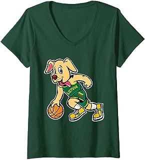 Womens Dog Lithuania Basketball Jersey Lietuva Flag Gift V-Neck T-Shirt