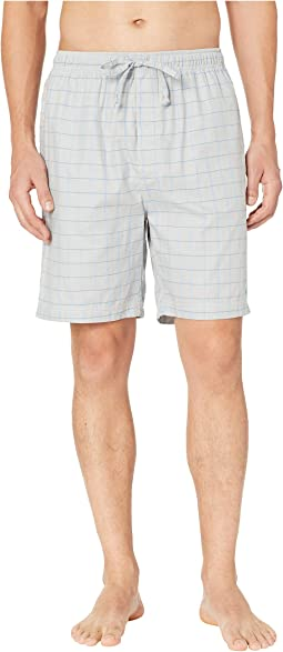 Herringbone Plaid Sleep Shorts