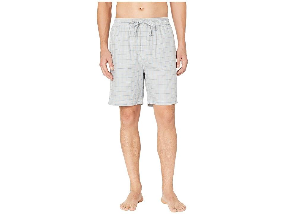 Nautica Herringbone Plaid Sleep Shorts (Neutral Grey) Men
