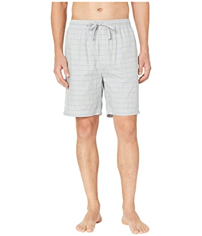 Nautica Windowpane Plaid Sleep Shorts (Neutral Grey) Men