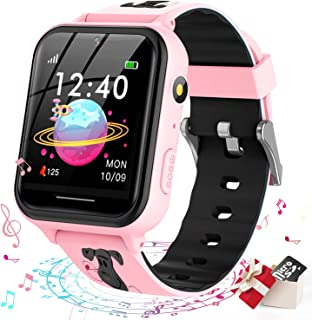 Jsbaby Smart Watch for Kids,Kids Smart Watch with Music Player,Pedometer,Math Games,SOS Call,Camera,Alarm,Recorder,Calcula...