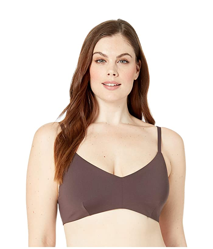 Volcom Plus Size Simply Seamless V-Neck (Dark Chocolate) Women
