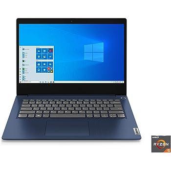 "Lenovo IdeaPad 3 14"" Laptop, 14.0"" FHD (1920 x 1080) Display, AMD Ryzen 5 3500U Processor, 8GB DDR4 RAM, 256GB SSD, AMD Radeon Vega 8 Graphics, Narrow Bezel, Windows 10, 81W0003QUS, Abyss Blue"