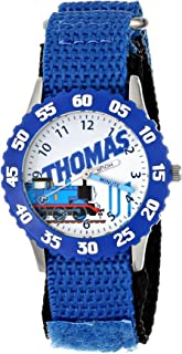 Thomas and Friends Kids' W000728 Stainless Steel Time Teacher Blue Bezel Blue Nylon Strap Watch