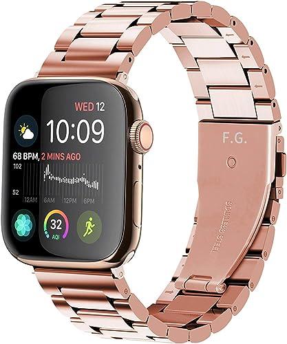 Fullmosa Acero Inoxidable Correa Compatible Apple Watch/iWatch SE, Serie 6, Serie 5, Serie 4,Serie 3, Serie 2, Serie ...