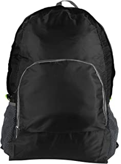LFLF (Noir Travel Randonnée Sac à Dos Extérieur Léger Sac Pliable Portable étanche Léger