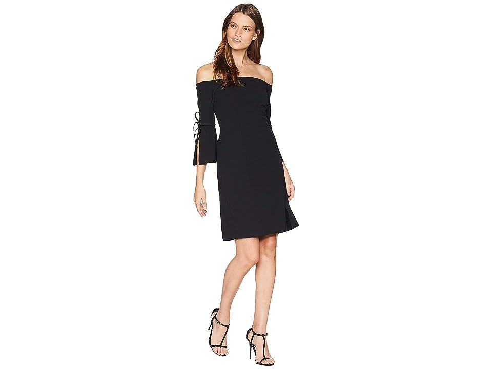 ALEXIA ADMOR Tie Sleeve Mini Dress (Black) Women