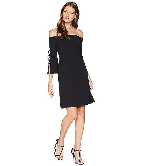 ALEXIA ADMOR Tie Sleeve Mini Dress, Black