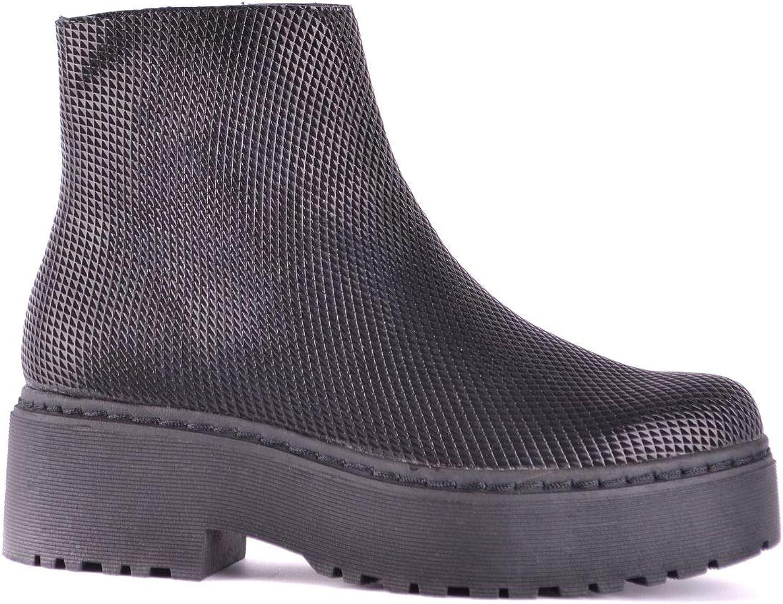 Jeffrey Campbell Women's MCBI32691 Black Leather Ankle Boots