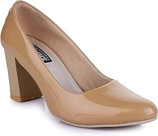 Trendy Fashion Women Brown Block Heels