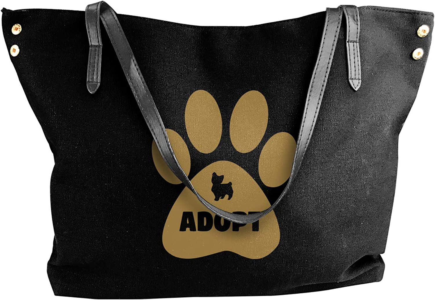 Don't Shop, Adopt Dog. Women'S Casual Canvas Sling Bag For Travel Work Bag