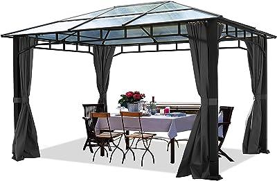 TOOLPORT Cenador de jardín 3x4m Impermeable ALU Deluxe Techo de ...