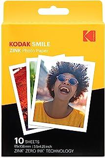 """Kodak Papel de impresión fotográfica Zink 35""""x425"""" (10 Hojas) Compatible con la cámara instantánea Kodak Smile Classic"""