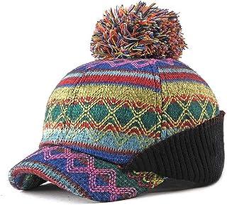 JAUROUXIYUJIN New Leisure Cap 2019 Baseball Cap Autumn Winter Fashion Cap Ladies Knit Hat Warm Ear Protection Ball Baseball Cap Outdoor (Color : Yellow, Size : 56-60CM)