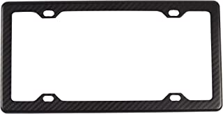 BLVD-LPF OBEY YOUR LUXURY 100% Real Matte Black Carbon Fiber License Plate Frame Slim 4 Holes with Matching Screw Caps - 1 Frame