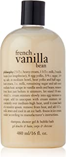 Philosophy French Vanilla Bean Ice Cream(Shampoo, Shower Gel and Bubble Bath)