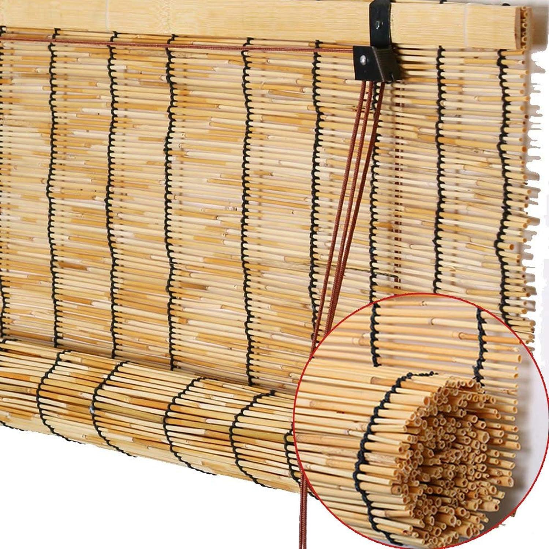 Vuelta de 10 dias Persianas enrollables de bambú, Cortinas de caa, caa, caa, Natural Ambiental Transpirable a Prueba de moldes, Interiores, Sala de Estar, Dormitorio, persianas de balcón, Varios Tamaños  bienvenido a comprar