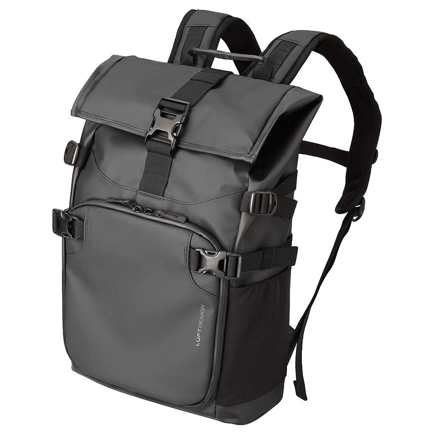 旅行代理店メンバー裸【Amazon.co.jp限定】 HAKUBAカメラリュック ルフトデザイン レジスト バックパック (カメラ収納部6.9L) 上下2気室構造 ピュアブラック AMZSLD-RS-BPPBK