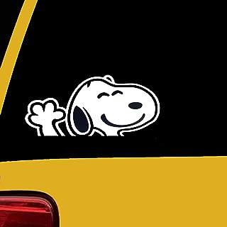 ملصقات رسومات فينيل بتصميم الرسوم المتحركة لقوس قزح سنوبي مموج للسيارات والشاحنات SUV والجدران والكمبيوتر المحمول ويندوز ...