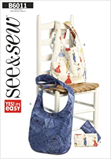 BUTTERICK PATTERNS B60110A0 Cosmetic and Hobo Bags Sewing Template, Size A (One Size)