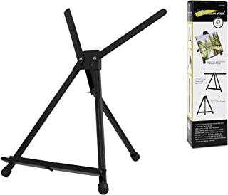 CONDA Aluminum Table Easel 1 Pack Tri-Pod Display with Rubber Feet,Black,20