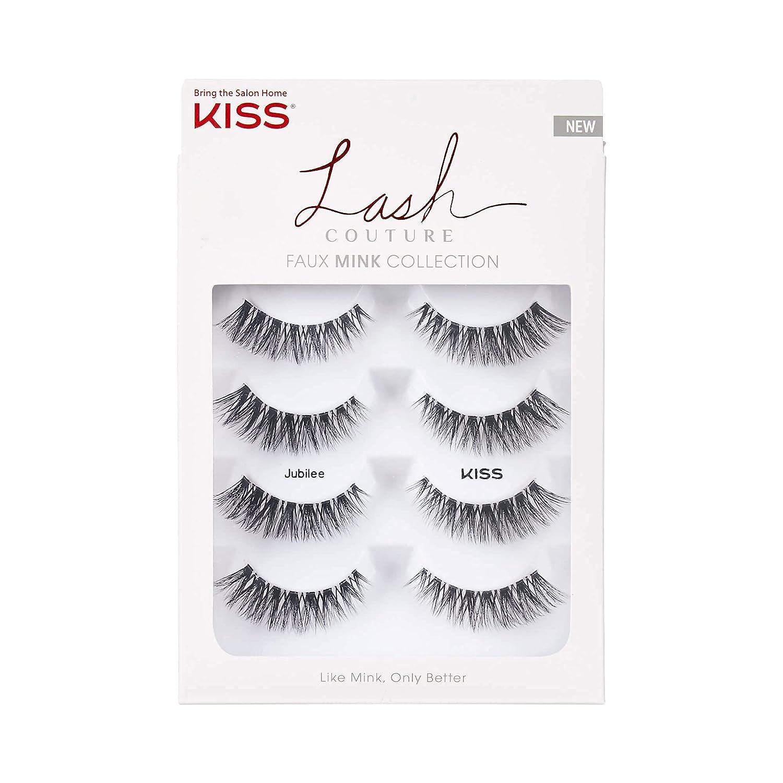 KISS Dallas Mall Genuine Lash Couture Faux Mink Eyelashes Knot-Free Multipack False