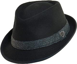 5696a5f4f6588 Dorfman Pacific Men s Wool Herringbone Band Classic Fedora Hat