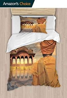 PRUNUSHOME Super Soft Breathable Bedding Poor Man in The North of India During The Sunset. Home Fashions X-Long Twin