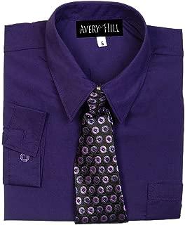 Boys Long Sleeve Dress Shirt with Windsor Tie