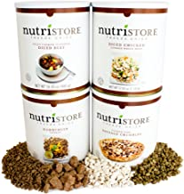 Nutristore Freeze-Dried Meat Assorted Premium Pack (Beef Dices, Chicken Dices, Ground Beef and Sausage Crumbles) | 80 Large Servings | Survival Food | Amazing Taste | Perfect for Camping