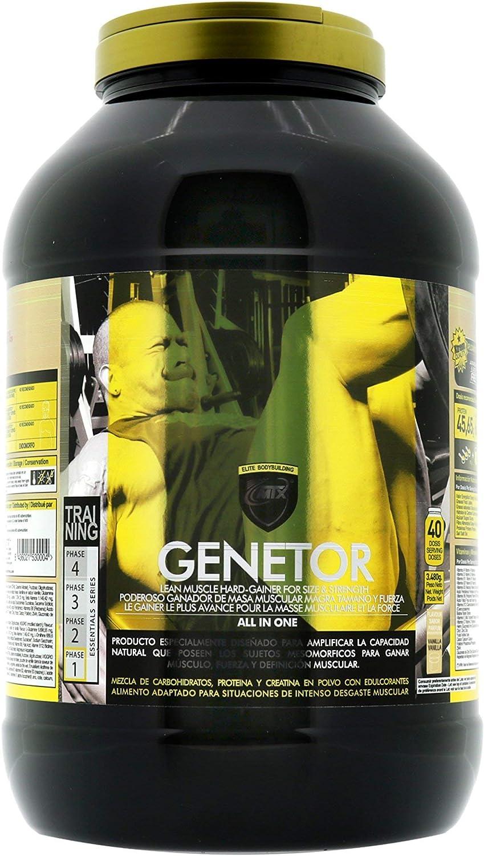 MTX nutrition MuscleGAINER -Genetor- [3,5 kg] Fresa - Suplemento PREMIUM que combina [ALL in ONE] proteínas de suero, carbohidratos avanzados
