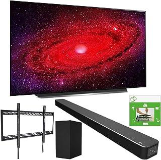 LG OLED77CXPUA 77-inch CX 4K Smart OLED TV with AI ThinQ (2020) Bundle SN6Y 3.1 Channel High Res Audio Sound Bar + TaskRab...