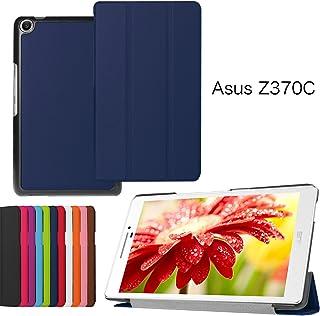 Asng ASUS ZenPad 7.0 Z370CG ケース ASUS ZenPad 7.0 Z370KL Z370C Z370CG カバー 三つ折スタンドカバー マグネット開閉式オートースリップケース 極薄型 傷つけ防止ケース (紺色)