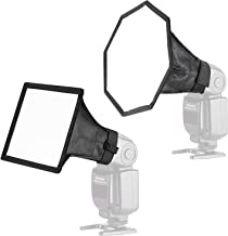 Neewer 2-Pack Pro Collapsible Universal Softbox Flash Diffuser - 8 inches Octagon and 6x8 inches Rectangle Softbox for On/Off Camera Flash for Canon,Nikon,Sony,Pentax,Olympus,Neewer,Youngnuo Flashes