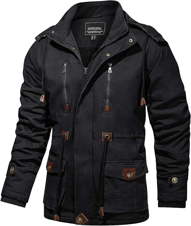 TACVASEN Soldering Men's Coats Winter Thicken Military Fleece Cotton Topics on TV Tacti