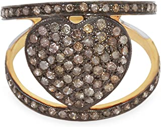 Handmade Natural Diamond Ring, Oval Shape Ring With 1.09 Carat Naturally Colored Brown Diamond (I2-I3 Clarity) For Women