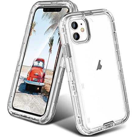 ORIbox Case Compatible with iPhone 11, Heavy Duty Shockproof Anti-Fall Clear case Crystal Clear