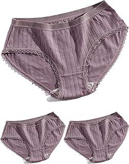 Starphase 純綿 女性美形ショーツ 3枚セット お好きな色ご指定 日系 植物色染め 下着 通気 伸縮 束縛感無し 履き心地楽々