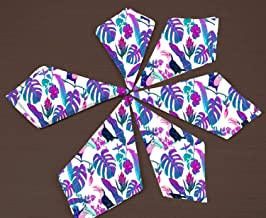 RADANYA Tropical Print Cotton Dinner Napkins - for Wedding Party Reception Events Restaurant Kitchen Home-12x12 Inches
