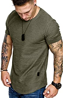 Men's Short Sleeve T-Shirt Muscle Gym Workout Athletic T Shirts Tee Tops Workwear S-XXL
