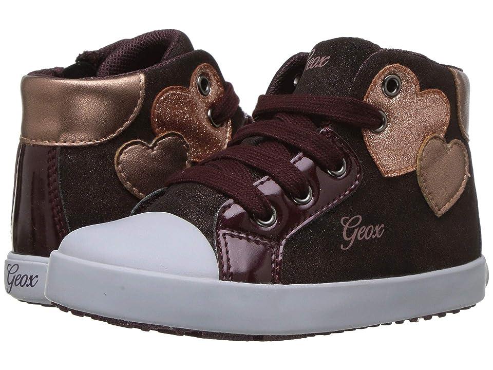 Geox Kids Kilwi Girl 35 (Toddler) (Dark Burgundy) Girl