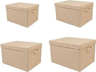WLA Boîte de Rangement Pliable carrée, bacs de Panier de Rangement de Tissu avec couvercles de Rangement paniers de Rangem...